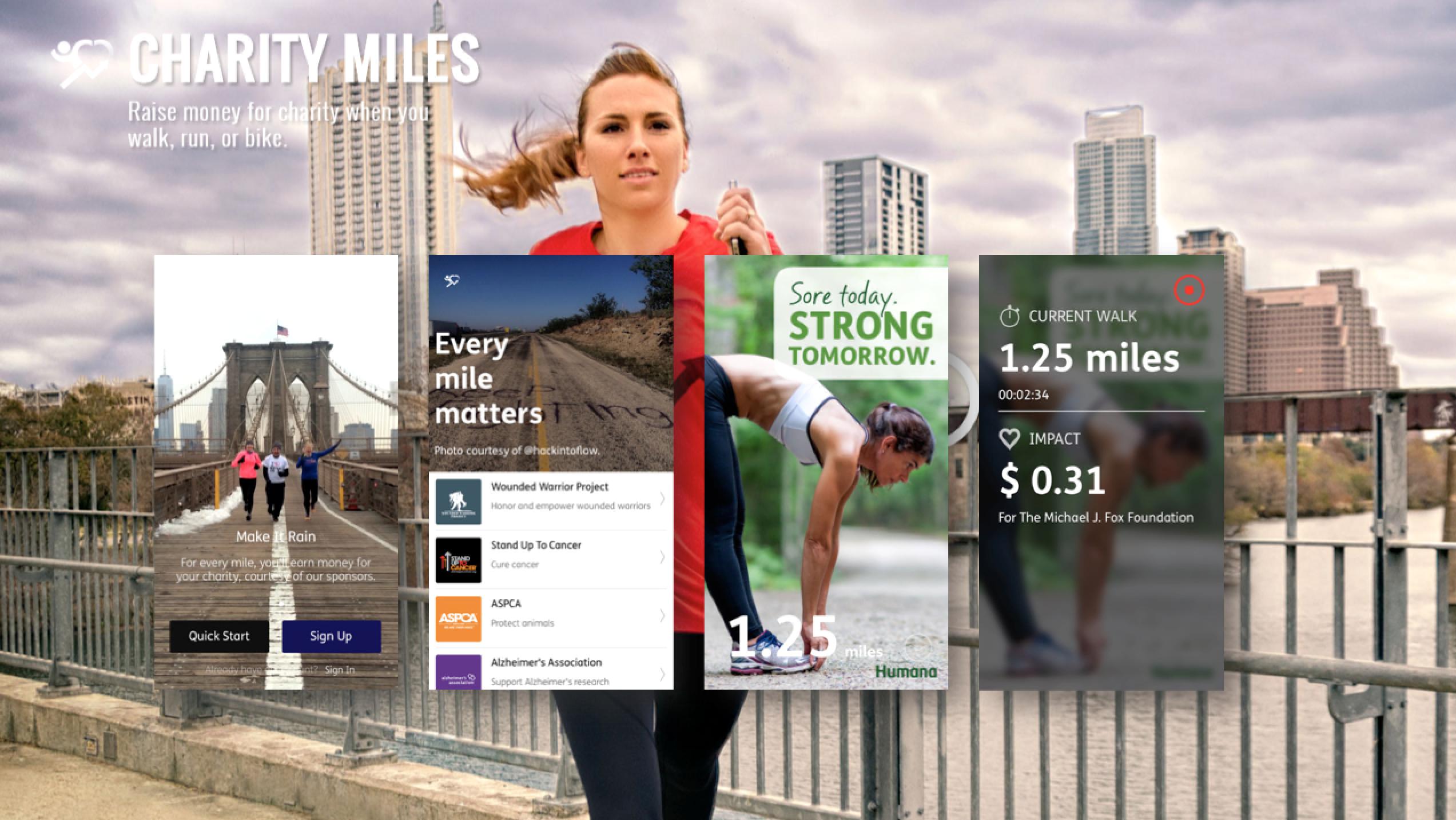 Charity miles: trainen voor het goede doel